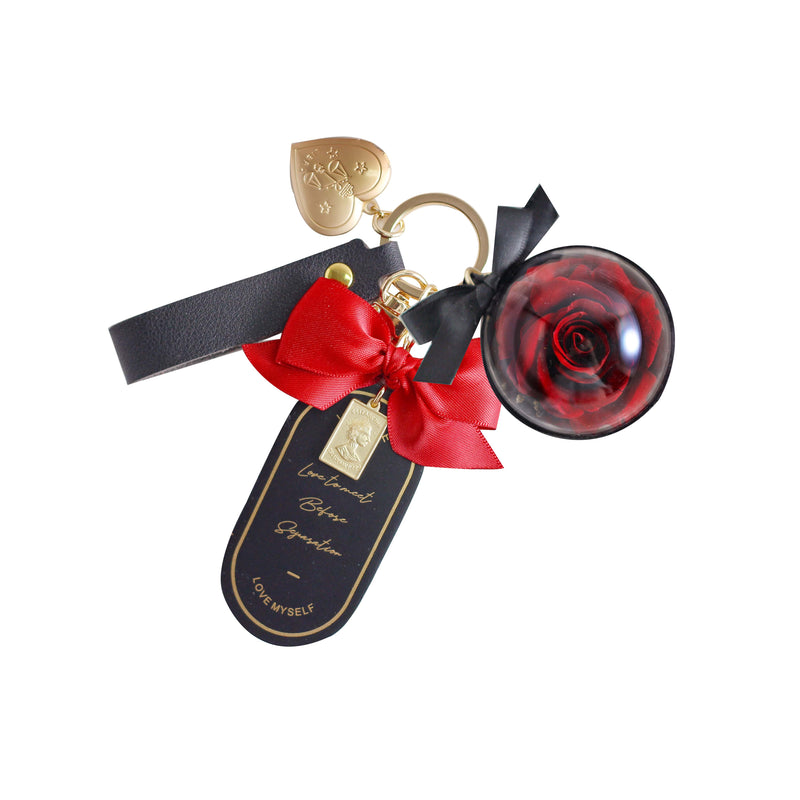 Keyring with Eternal Rose