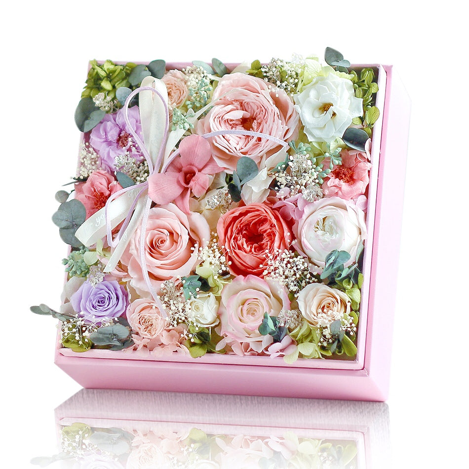 Léselle's Flower Box (Pink)|Forever Rose|Eternal Flower|Léselle