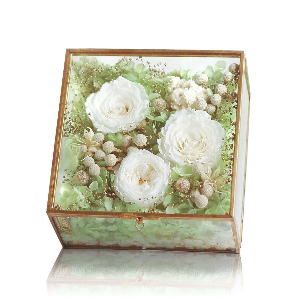 Léselle's Flower Box (Green)|Forever Rose|Eternal Flower|Léselle