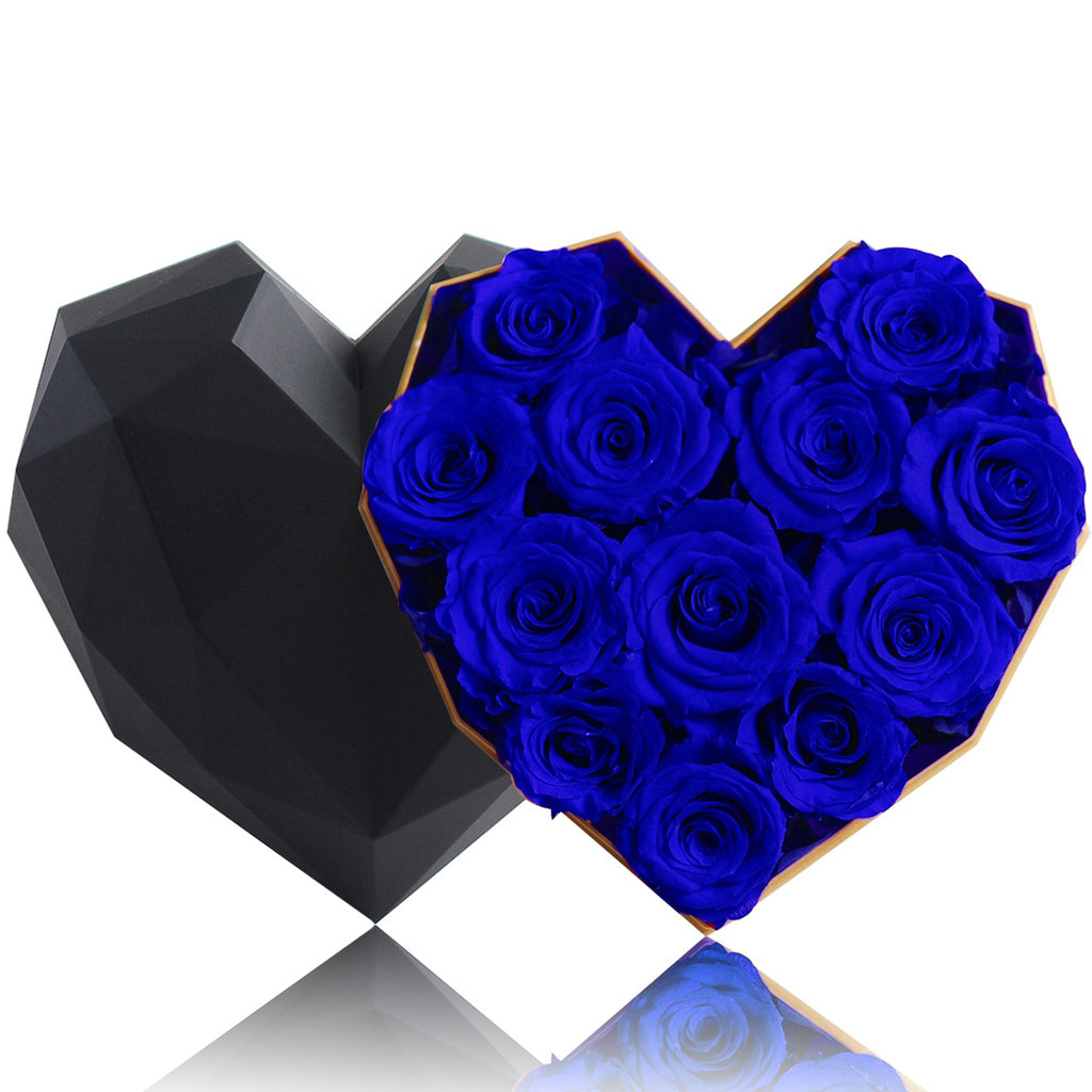 12 Blue Rose Flower Box