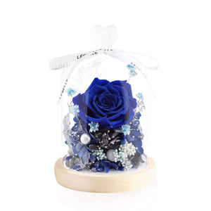 Mini Preserved Rose in Glass Dome 藍玫瑰永生花保鮮花擺設