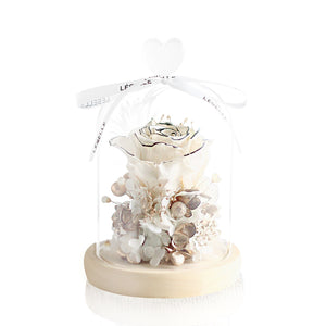 Mini Rose (White)|Forever Rose|Eternal Rose|Preserved Flower|Léselle