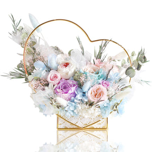 Heart Shaped Forever Flower Basket