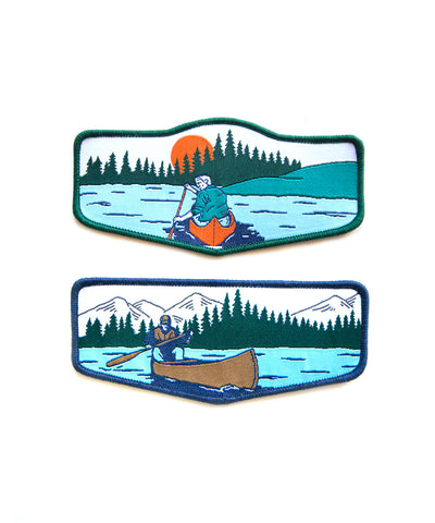 CANOEIST BADGE SET