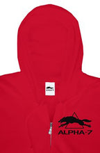 Load image into Gallery viewer, Red Zipper Hoodie