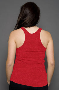 Womens Red Racerback Tank
