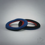 Blue & Black Loop with Red Trim