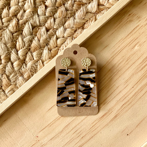 Mini Mosaic Crackle Earring