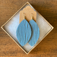 Load image into Gallery viewer, Denim Blue Palm Leather Earring (additional styles available)