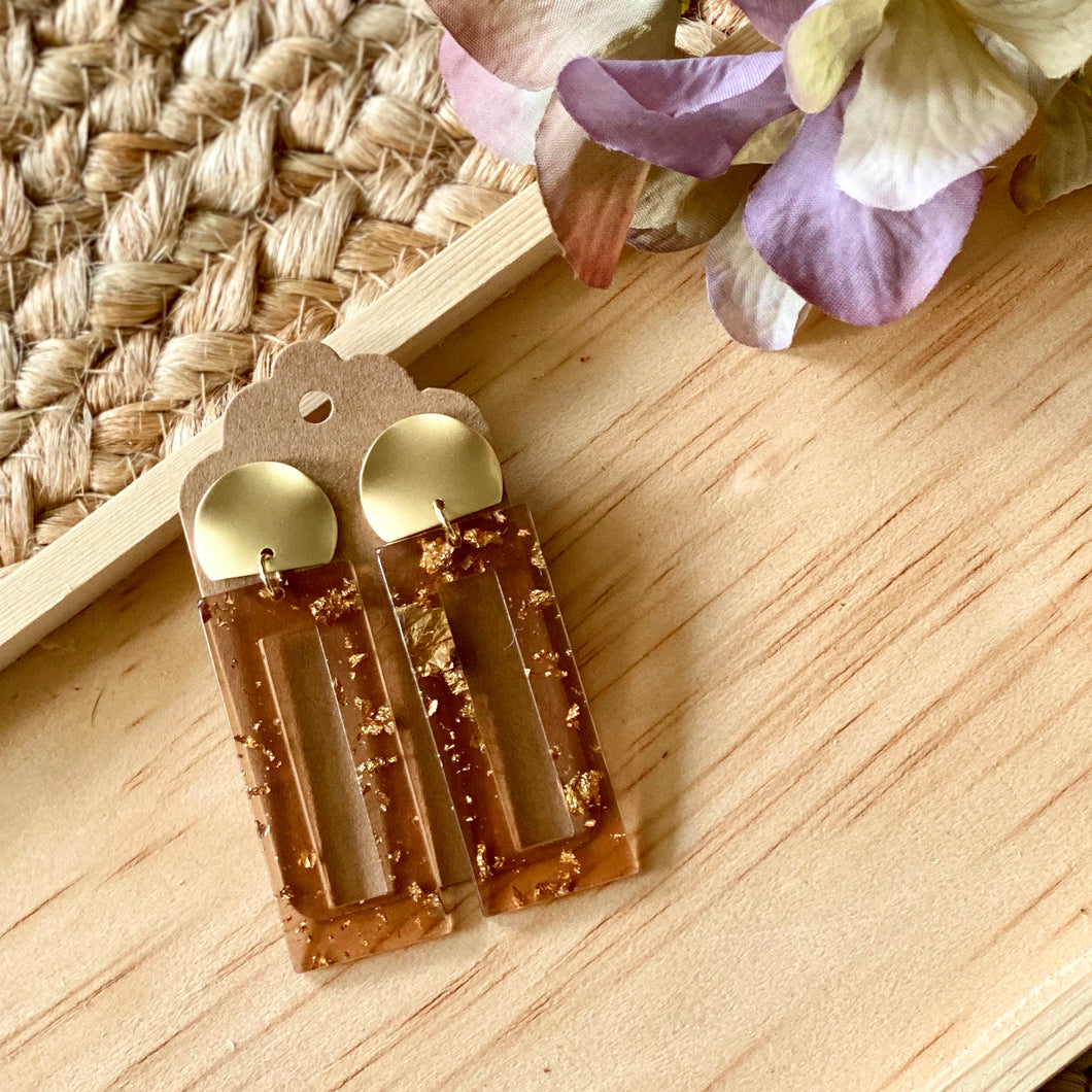 Amber Acrylic Statement Earring