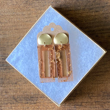 Load image into Gallery viewer, Amber Acrylic Statement Earring