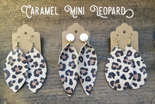 Load image into Gallery viewer, Caramel Mini Leopard Leather Earrings (additional styles)