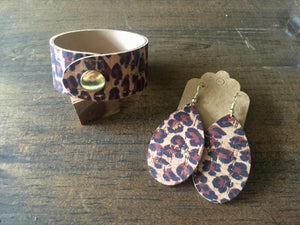 Leopard Cork Earrings (additional styles)