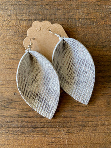 Urban Snakeskin Leather Earrings (additional styles)