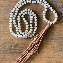 Load image into Gallery viewer, Tan Suede Tassel Necklace