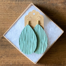 Load image into Gallery viewer, Mint Palm Leather Earrings (additional styles)
