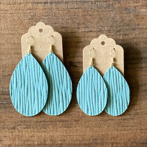 Mint Palm Leather Earrings (additional styles)