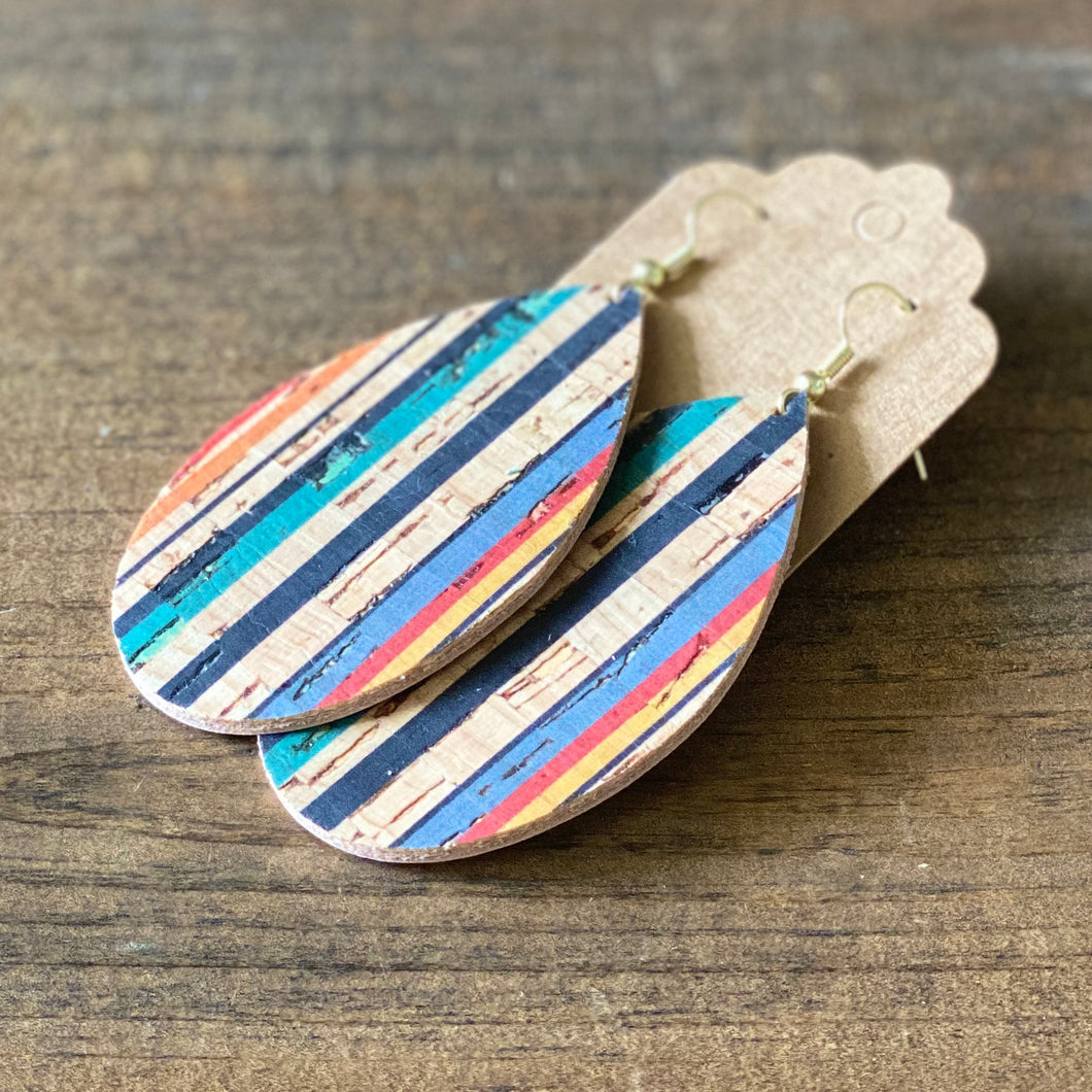 Striped Cork Teardrop