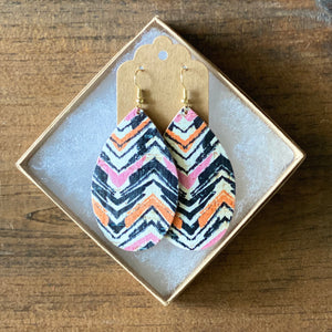 Pink and Orange Chevron Cork (additional styles)