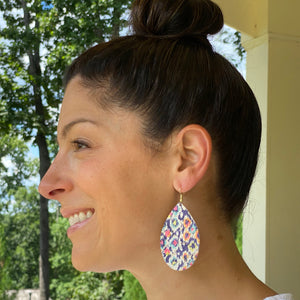 Multi-Color Tribal Cork Earrings (additional styles)