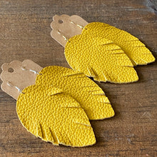 "Load image into Gallery viewer, ""I'm Your Biggest Fan"" Yellow Feather Earring"