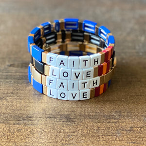Faith and Love Tila Bracelets