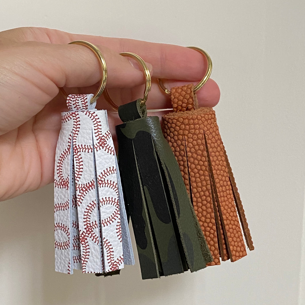 Specialty Leather Tassel Keychains
