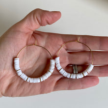 Load image into Gallery viewer, Heishi Bead Hoops (additional colors available)