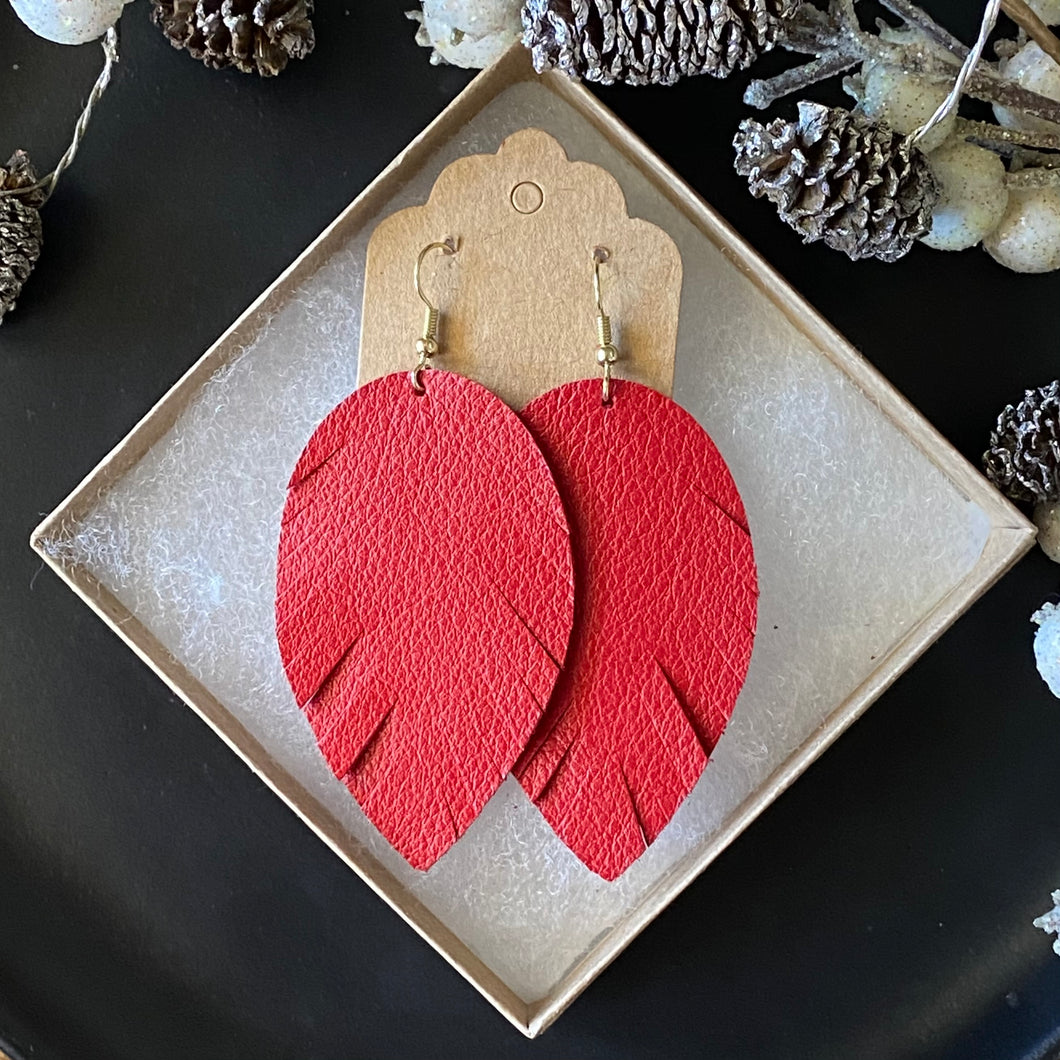 Red Leather Feather