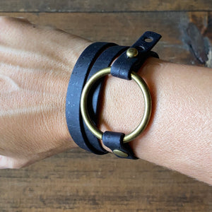 Black Cork Wrap Bracelet