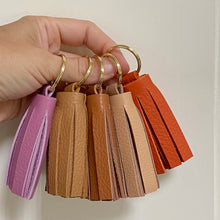 Load image into Gallery viewer, Soft Leather Tassel Keychains