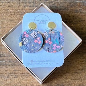 Spring Meadow Cork Disc with Gold Stud