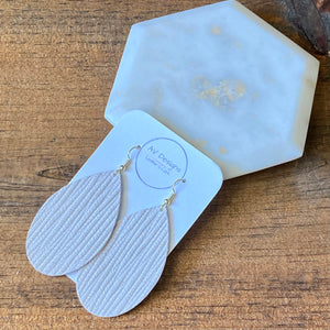 Soft White Palm Leather Earrings (additional styles available)