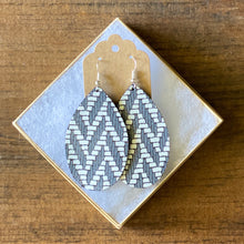 Load image into Gallery viewer, Charcoal Grey Chevron Leather Earring (additional styles)