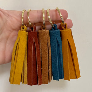 Suede Leather Tassel Keychains
