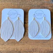 Load image into Gallery viewer, Soft White Palm Leather Earrings (additional styles available)