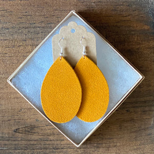 Mustard Suede Earrings (additional styles available)
