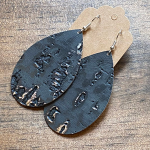 Charcoal Gray Wildwood Leather Earring