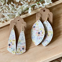 Load image into Gallery viewer, Summer Watercolor Flowers Cork Earrings