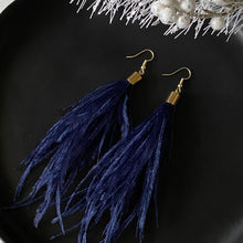 Load image into Gallery viewer, Ostrich Feather Lightweight Earrings