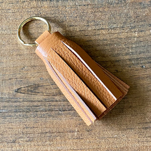 Soft Leather Tassel Keychains