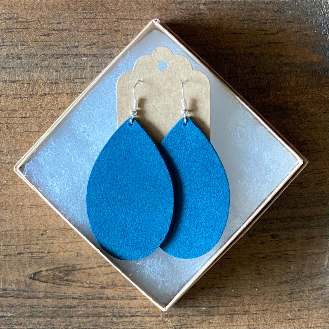 Teal Suede Earrings (additional styles available)