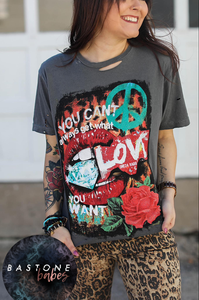 Distressed Love Tee