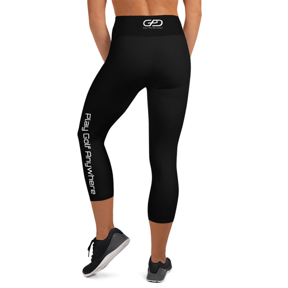 Womens - Capri Leggings - Black