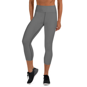 Womens - Capri Leggings - Gray
