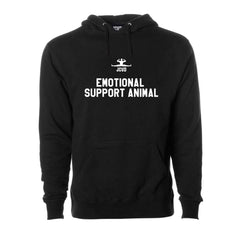 Emotional Support Animal Black Pullover Hoodie