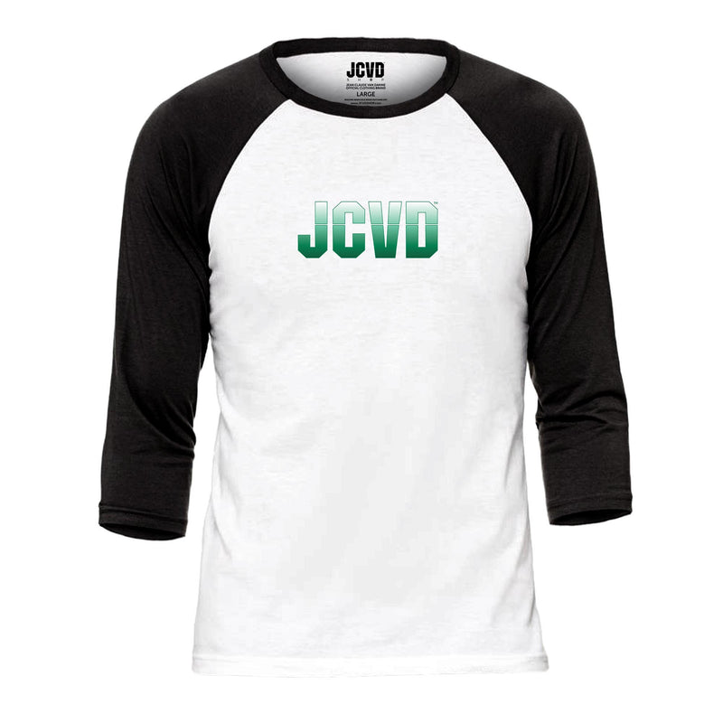 JCVD Green Design Baseball Tee
