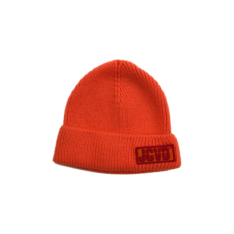 JCVD Bonnet Cuffed Beanie- Orange