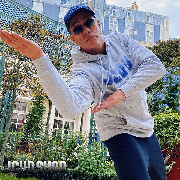 JCVD Gray Pullover Hoodie