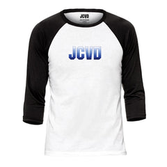 JCVD Blue Design Baseball Tee